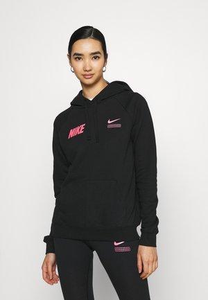 Langarmshirt - black/hyper pink