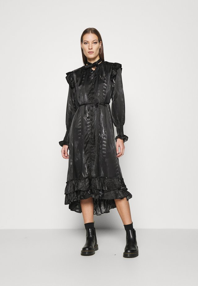 LARA VIOLA DRESS - Shirt dress - black