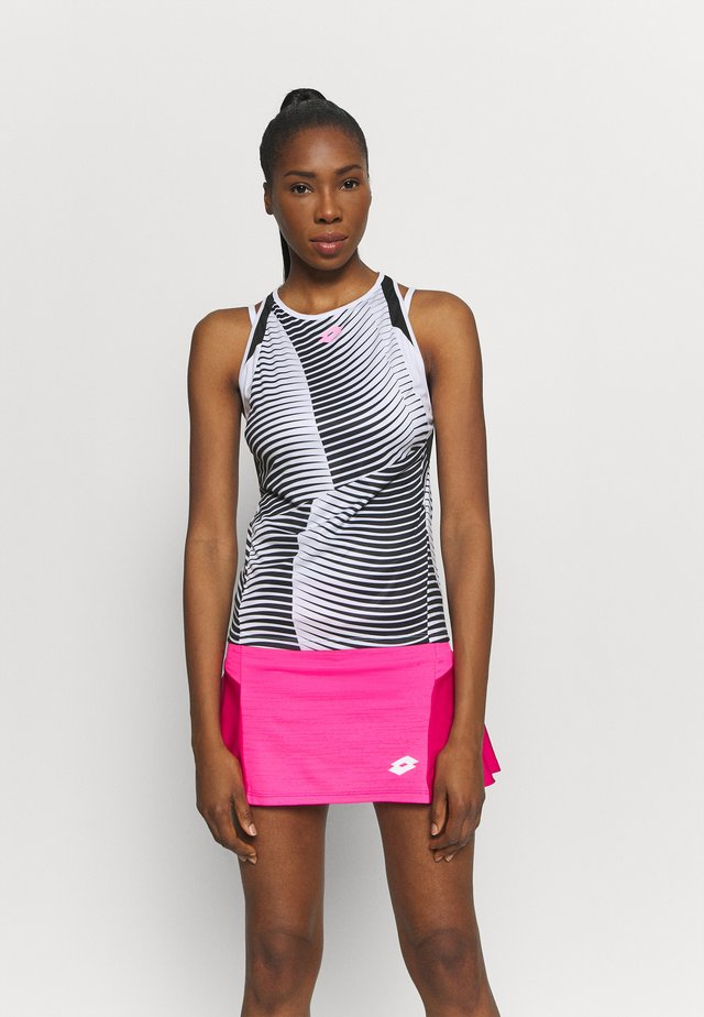 TOP TEN TANK - Sportshirt - bright white/black