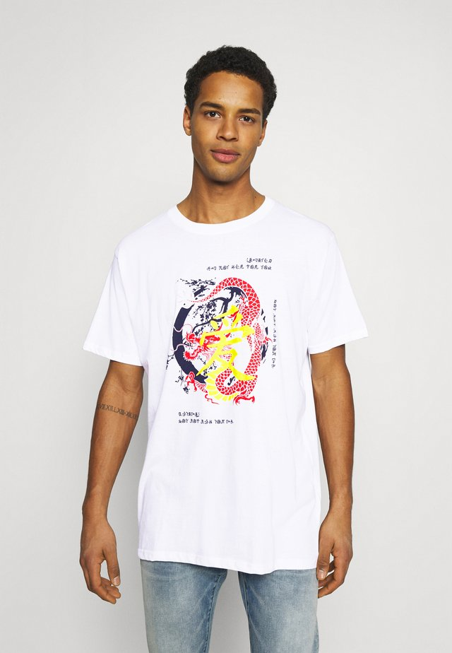 Night Addict Unisex - T-shirt con stampa - white