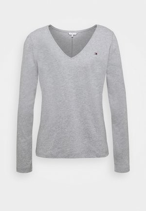 CLASSIC - Topper langermet - mid grey heather