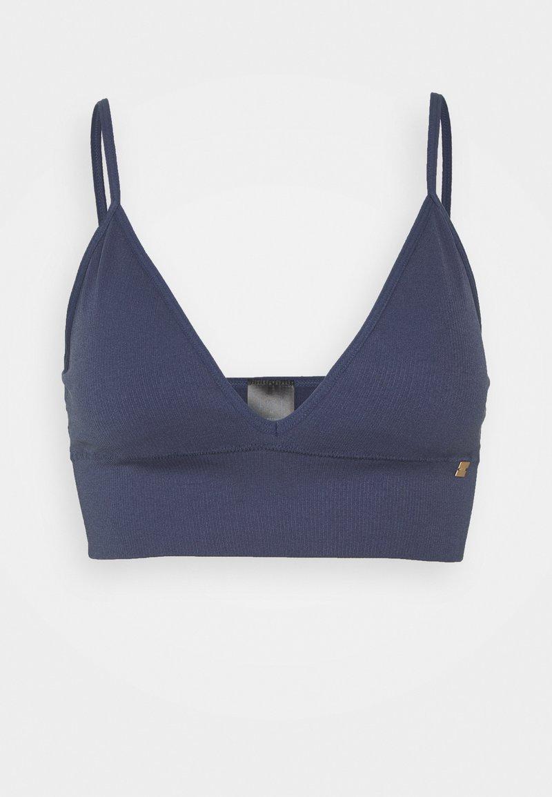 ELLE - SEAMFREE LONG LINE BRALETTE - Triangle bra - crown blue