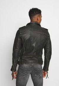Tigha - NEVAN - Leather jacket - vintage black - 2