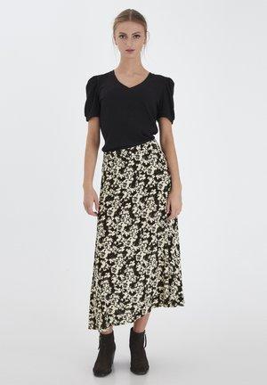 IHANKE  - A-line skirt - black