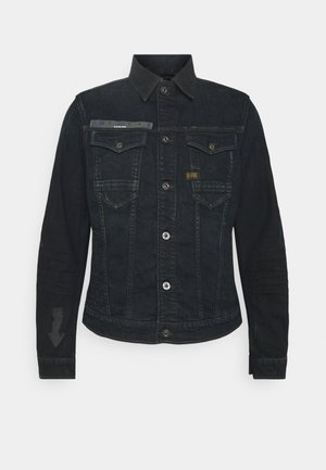 SLIM ARROW PRINT - Denim jacket - dark ink blue