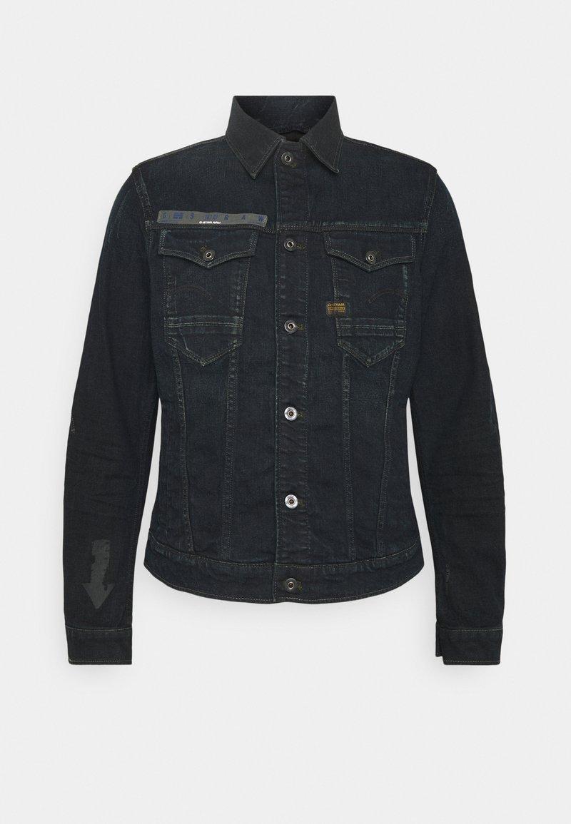 G-Star - SLIM ARROW PRINT - Denim jacket - dark ink blue