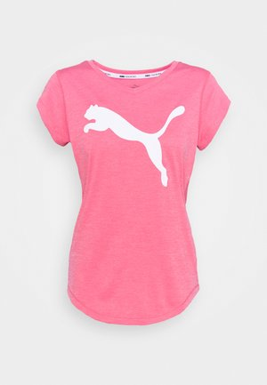 HEATHER CAT TEE - Print T-shirt - bubblegum