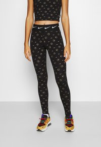 Nike Sportswear - PRINT PACK - Leggings - Trousers - black/metallic gold - 0