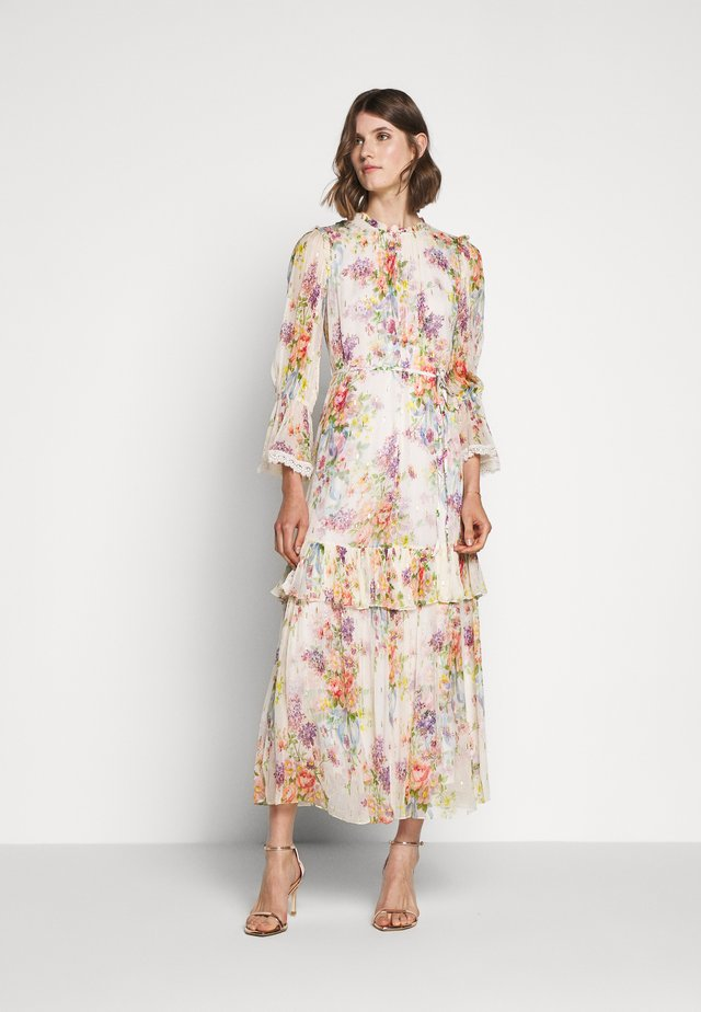 FLORAL DIAMOND GOWN - Occasion wear - champagne