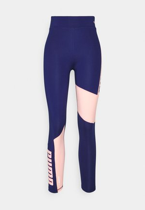 TRAIN FAVORITE LOGO HIGH WAIST - Tights - elektro blue/elektro peach