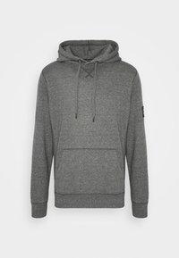 Calvin Klein Jeans - MONOGRAM BADGE GRINDLE HOODIE - Luvtröja - black - 4
