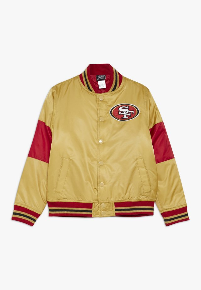 NFL SAN FRANCISO 49ERS VARSITY JACKET - Chaqueta de entrenamiento - gym red/club gold
