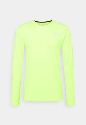 ACCELERATE LONG SLEEVE - Long sleeved top - bleached lime glo