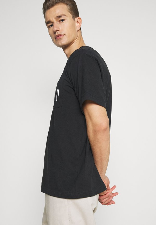 GAP T-shirt z nadrukiem - moonless night/granatowy Odzież Męska PHQU