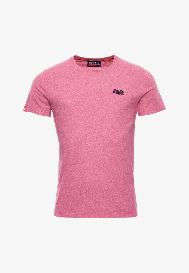 Basic T-shirt - pink grit