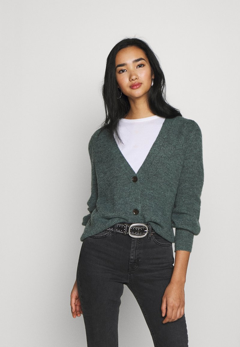 ONLY - ONLMIRA CARDIGAN - Cardigan - balsam green melange