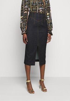 LADY SKIRT - Denim skirt - indigo