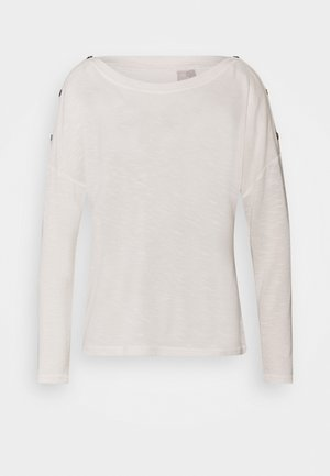 PCNOLLIE O NECK  - Strickpullover - cloud dancer