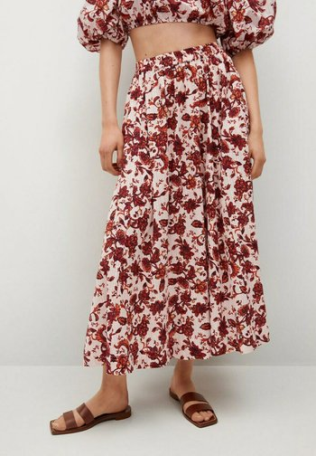 COQUET - Pleated skirt - blanco roto