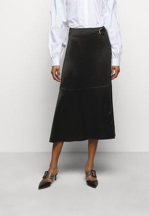 CORIS - Áčková sukně - black