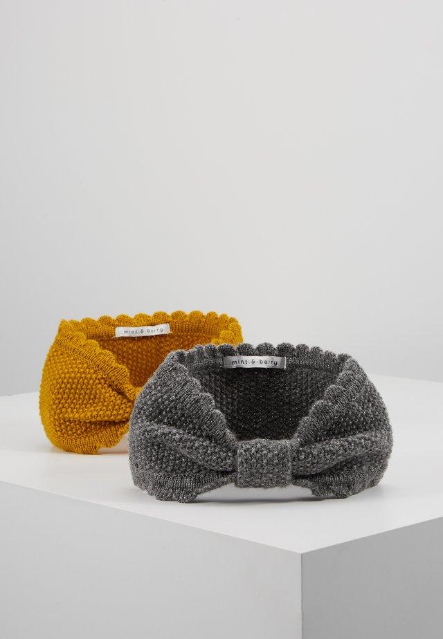2 PACK - Ear warmers - dark grey/Yellow
