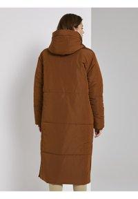 TOM TAILOR DENIM - PADDED LONG COAT - Winterjas - burnt hazelnut brown - 2