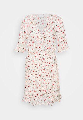 VILANA DITSY FLOUNCE WRAP DRESS - Robe d'été - white/red