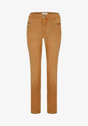 MALU ZIP - Slim fit jeans - camel