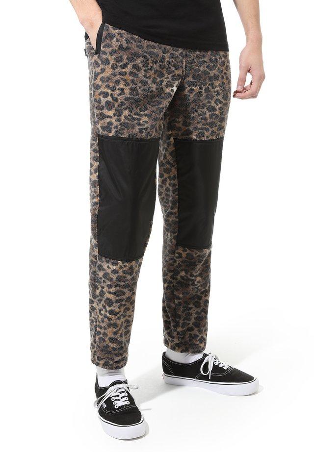 MN POLAR FLEECE PANT - Trainingsbroek - leopard print