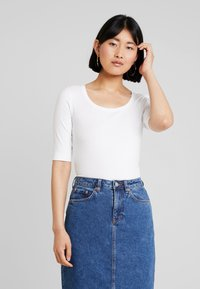 Opus - SANIKA - Basic T-shirt - white - 0