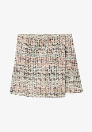 TWEED  - Mini skirt - gebroken wit