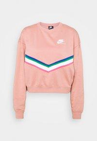 Sweatshirt - rust pink/white