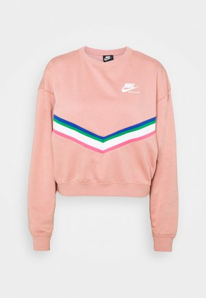 Sweatshirt - rust pink/white