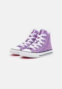 Converse - CHUCK TAYLOR ALL STAR COATED GLITTER - High-top trainers - bold pink/white/black - 1