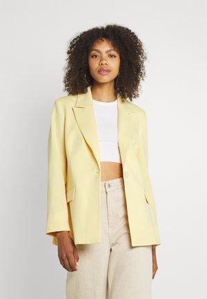 SINGLE BREASTED - Short coat - yellow