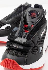adidas Originals - FALCON ZIP - Sneakers - core black/footwear white/red - 7