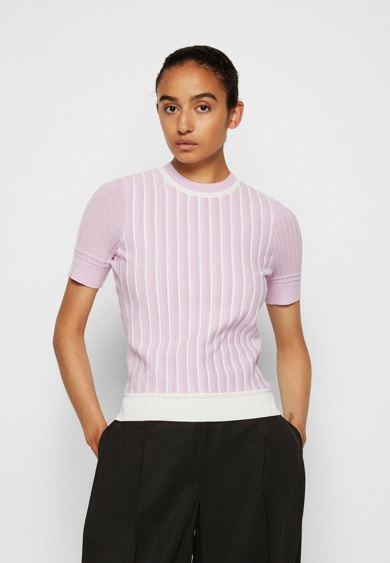 3.1 Phillip Lim - MOCK NECK - Print T-shirt - lavender