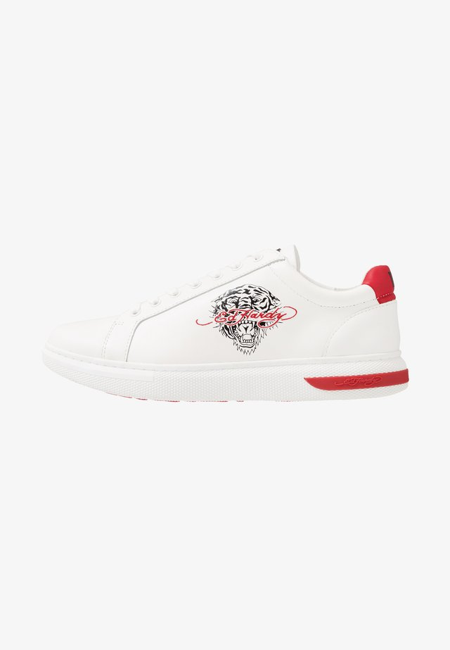 POP LOW TOP - Baskets basses - white/red