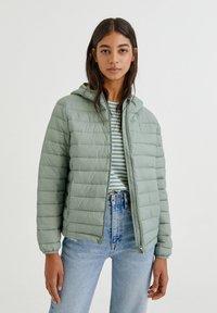PULL&BEAR - Winter jacket - light green - 5