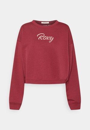 BREAK AWAY CREW - Sweatshirt - tibetan red