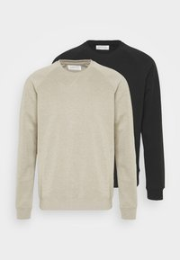 2 PACK - Sweatshirt - tan/black