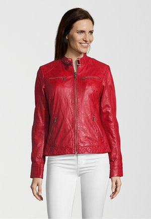 DINGS - Leather jacket - red