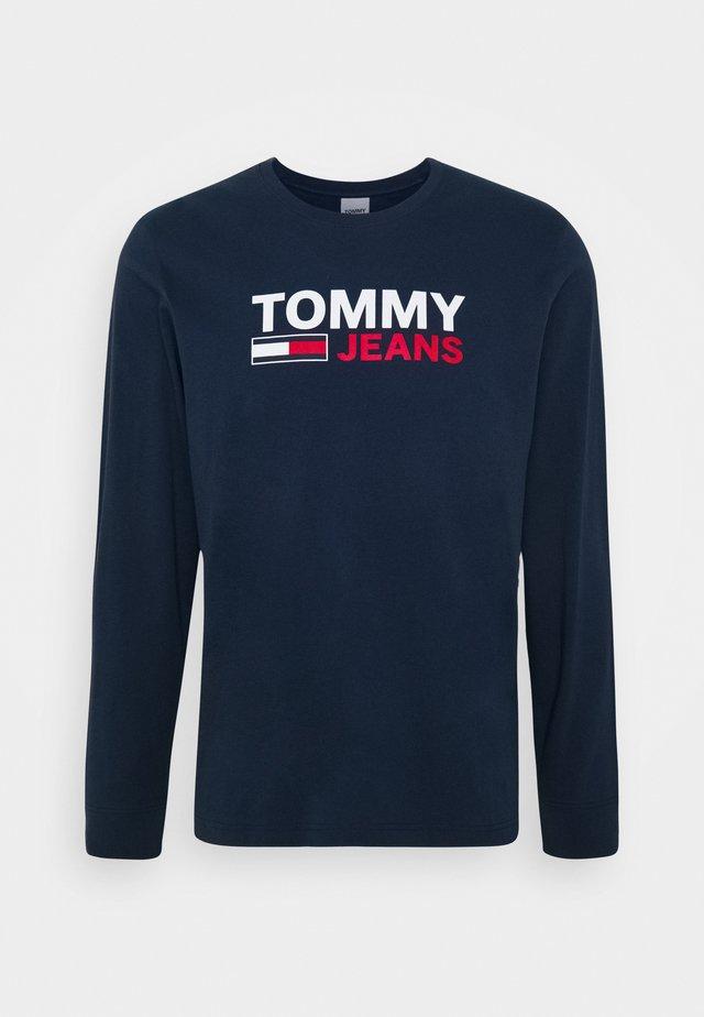 LONGSLEEVE LOGO TEE - Camiseta de manga larga - twilight navy