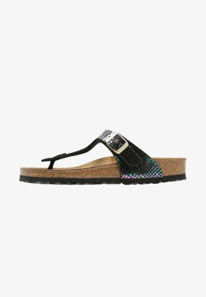 GIZEH - T-bar sandals - black/multicolor