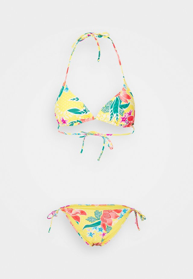 STILL IN PARADISE TRI SET - Bikini - bright yellow