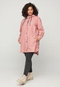 Zizzi - Waterproof jacket - rose - 1