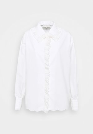 BOXY LACE SHIRT - Blůza - white