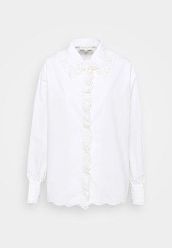 BOXY LACE SHIRT - Blouse - white