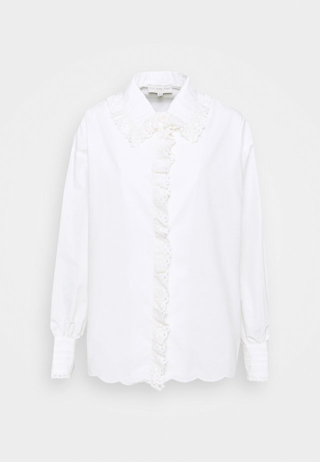 BOXY LACE SHIRT - Pusero - white