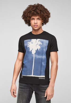 MIT MOTIVPRINT - Print T-shirt - black placed print